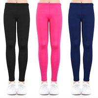 Конфеты цвета девушки леггинсы девочка карандаш брюки модальные лодыжки длиной тощий на 2 13 лет детская одежда