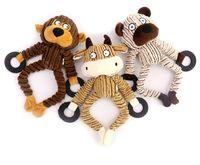 Pet Plush alivia o tédio resistência a cães vocal brinquedos de dentes e brinquedo de modelagem animal absorvente