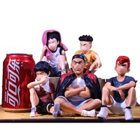 13 cm Anime Slam Dunk Sakuragi Hanamichi Figuras de acción PVC Rukawa Kaede Akagi Tedori Mitsui Hisashi Colección Modelo Juguetes