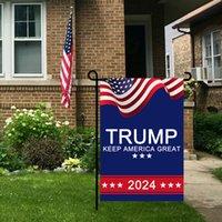 Präsident Donald Trump 2024 Flagge 30 * 45 cm Maga Republikanische USA Flaggen Anti Bidingen Nie Funten Lustige Gartenkampagne Banner 1134 V2