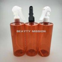 زجاجات تخزين الجرار مهمة الجمال 500 ملليلتر 12 قطعة / الوحدة حمراء النباتات فارغة الزهور تصفيف الشعر البخاخ الماء صالون أداة بلاستيكية رذاذ الروبوت