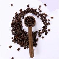 Walnut de madeira colher de medição ferramentas de leite pó de chá de café feijões colher home cozinha acessórios 10g dwd10489