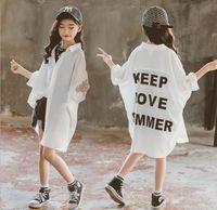 Jackets 2021 Girls Printed Coat Summer Chiffon Full Sleeve Fashion Jacket Kids Clothes 4-9 Years