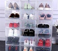 6 قطع سميكة شفاف درج حالة صناديق الأحذية البلاستيكية تكويم مربع الأحذية المنظم shoebox 1457 v2