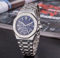 Alle Unterteilen Arbeit Freizeit Herrenuhren 42mm Voll funktionsfähiger Edelstahl Quarz Armbanduhren Stoppuhr Watch für Männer