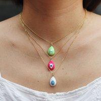 Ожерелья кулон Мода дьявола эмаль эмаль дьявола медное позолоченное радужное ожерелье для женщин персонализированный стиль ювелирных изделий цепочка 3400 Q2