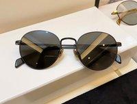 Occhiali da sole rotondi retrò 40100 Oro nero / nero Occhiali Occhiali da donna Sole Sfumature UV400 Eyewear con scatola