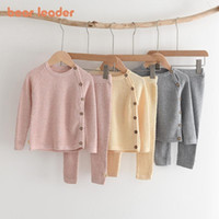 Bear Leader Baby Girls Casual Clothing Sets Fashion Toddler Boys Knitted Top And Pants Outfits Infant Spring Clothes Suits