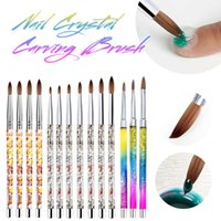 Nail Art Kits Gel Carving Pen Acrylic Dotting Tool Reusable Washable Brush For Painting Manicure Tools Fast Delivery