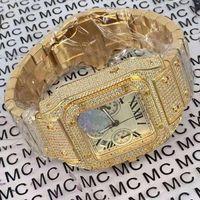 Chronographe Chrono Chronique Automatique 7750 Hommes Regardez Diamant Glafe Out Gold W20090X8 Mens Montre-Bracelet WSCA0011 Bracelet Orologio Di Lusso