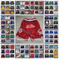 Erkekler 1991 Kırmızı All-Star Sadece Don Basketbol Şort Pembe Hip-Hop Spor Cep Otantik Dikişli Klasik Mesh Sweatpants KD0405 Ile Fermuar Pantolon Giymek