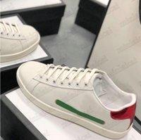 Asso ricamato striscia in pelle bianca scarpa da uomo Designer Sneakers Ape Snake Tiger Flower Cat Donne amato Scarpe casual