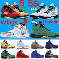 2021 5 5S كرة السلة أحذية جزيرة غرين أبيض الشبح الأعلى 3 البيض المعدني الأسود 23 المدربين النار الأحمر الفضة اللسان الرجال أحذية رياضية