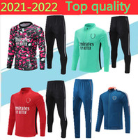 2021 Gunners Erkekler Futbol Eşofman 20/21 ARS E Pepe Nicolas Ceballos Henry GuendouZi Futbol Ceket Eğitim Takım Elbise Koşu Jogging