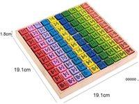 Hölzerne Multiplikation Montessori Pädagogisches Holzspielzeug Math Arithmetic Tischplattenspiel Für Kinder Frühe Lernen Geschenk FWA9427