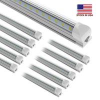 25Pcs 8ft 150W ,V-Shaped 2ft 3ft 4ft 5ft 6ft 8feet Cooler Door Led Tubes T8 Integrated Led Tube Double Sides Led Lights fixture Stock In USA