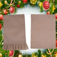 Jute Burlap DIY Garden Flag Merry Christmas Banner Outdoor Hanging Bunting Xmas Tree Decoration Festival Party Flags