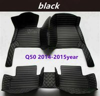 for INFINITI Q50 2014-2015year Custom Car Splicing Floor Mats Waterproof Leather Wear-resistant Non-toxic Tasteless and Environmentally Friendly Foot Mats
