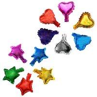 도매 5 인치 심장 모양과 스타 알루미늄 호 일 풍선 결혼식 장식 파티 용품 헬륨 풍선 1053 v2