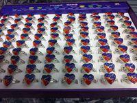 Bagues de bijoux Anneaux de coeur Bague de change de couleur multicolore réglable