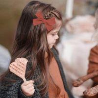 Accessori per capelli Oaoleer Baby Clips Cotton Girls Bambini Archi Tildins Autunno Autunno inverno Barrotte Farfalla Farfalla Party
