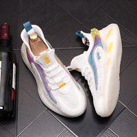 جديد أزياء الرجال أحذية عارضة أحذية جلدية اليدوية الدانتيل متابعة الرجل أحذية خفيفة رجل المتسكعون الأخفاف الأحذية الكبار حجم 38-43 D68