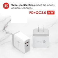 18W PD+QC3.0 type c Charger Fast wall chargers EU UK US Plug for iPhone Xiaomi Samsung