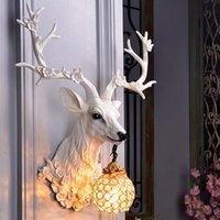 Wall Lamps Modern Decor LED White Deer For Dining Room Attic Aisle Living Bedroom Sconce Light Home Vanity