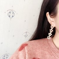 Pentagons Stars Set with Diamond Stud Quality Shows Thin Earrings High Sense Simple Alloy Jewelry Gift
