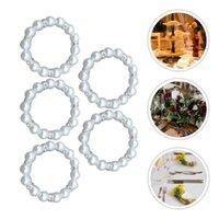 5 stücke Serviette Schnallen Nachahmung Perlenringe Tischhalter