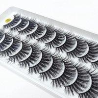 Cílios Falsos 10/5 / 2Pairs Mink Natural 3D Lashes Maquiagem Falso Eye Faux Cils Compõem Ferramenta de Beleza Atacado