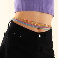 Joyería de moda bohemia Hecho a mano Cadena de vientre de colores Bikini Beads Cinturón con cuentas Cuerpo delgado Cadenas de cintura