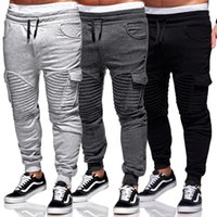 Pantalones para hombre Harem Joggers Sweat Elastic String Cuff Drop Potchers Pantalones Pantalones Para Menores 5 Color S-3XL Tamaño
