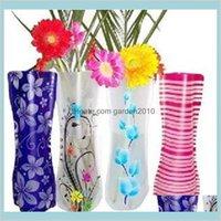 Vazolar Ev Décor Bahçe 20 adet Yaratıcı Temizle PVC Plastik Çevre Dostu Katlanabilir Katlanır Çiçek Vazo Kullanımlık Düğün Parti Dekorasyon