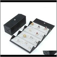 Bag Organizer Leather Foldable Portable Snap 36Bit Large Capacity Ring Storage Jewelry Box Qnvhp Dxnik