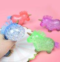 Giocattoli di decompressione Soluzione di sollecitazione Unico di alta qualità Soft Unicorn Pinch Squeeze Toy Novità per bambini GWA6370