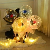 Party Decoration Beautiful LED Luminous Balloon Light Bouquet Rose Lamp Decor Wedding Birthday Gift For Valentine's Day Year Kid