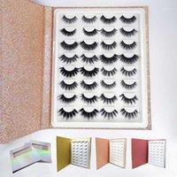 Mangodot 16pairs 밍크 속눈썹 3D 두꺼운 손으로 만든 속눈썹 책 도매 cilios 럭셔리 속눈썹 볼륨 거짓 속눈썹 1