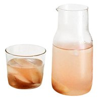 Wine Glasses 1 Set Heat Resistant Glass Japanese Style Drink Small Capacity Jug With Cup Transparent Cold Kettle Drinking Utensils