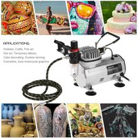 Professional Spray Guns Airbrush Kit Sparay Gun Air Compressor Dual-Action Hobby Brush Set Tattoo Nail Art Paint Supply