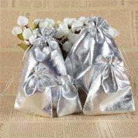 Горячей ! 100 серебристые марлевые сумки ювелирных изделий 7x9 см / 9x12cm / 11x16cm / 13x18cmjewevelry Подарочные сумки для свадебных помещений с 48 q2