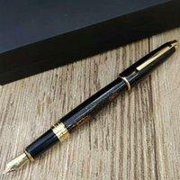 2021 듀폰 분수 펜 블랙 골든 비즈니스 사무실 및 학교 쓰기 용품 럭셔리 선물 추천 펜