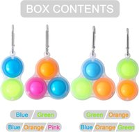 Colorful Sensory Fidget Push Bubble Board Toys Simple Dimple Fidgets Finger Play Game Anti Stress Spinner w1