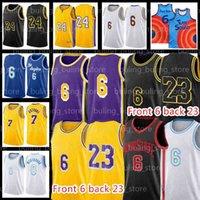 "6 LeBron 23 James Jersey Russell 0 Westbrook Basquetebol Los Carmelo 7 Anthony Angeles ""Lakers"" Homens Kozma City Black Kyle Davis 3 Mamba Camisolas"