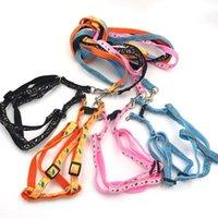 Dog Collars & Leashes Bilayer Durable Adjustable Nyloon Pet Collar Harness Set Cat Lead Leash Training Walking 1Pcs