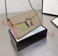 2021 Vintage Clássico Mulheres Crossbody Bag Luxurys Designers Messenger Bags Top Quality Ombro Horseshoe Imprimir Buckle Embreagem Bolsa de Couro Bolsas Carteira
