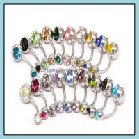 & Jewelrysteel Bell Button Ring Crystal Piercing Navel Belly Rings For Women Fashion Body Jewelry Will And Sandy Ship Dff1770 Drop Delivery