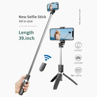 Portable Tripod Selfie Stick for Mobile Phone Photo Taking Live Broadcast Chargable Bluetooth Remote Control Tripod Stand Pole for Gopro Sports Action Camera