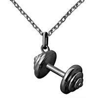 قلادة القلائد الحديد اللياقة للنساء رياضي مجوهرات الأزياء القماش الملحقات الصغيرة سحر شخصية رياضة