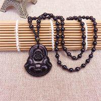 Temple Fair Plaid Shop Jewelry Moda Imitación de mujeres Jade Guanyin Buddha Sweater Cadena Collar largo 2nf7 407 Q2